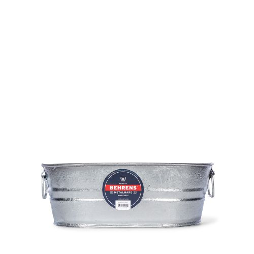 2 Gallon Oval Hot Dipped Steel Tub