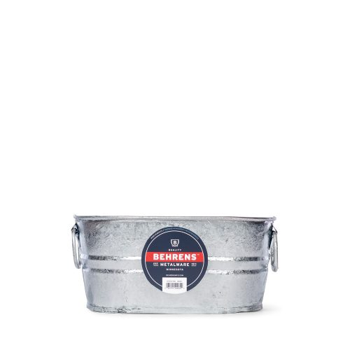 1 Gallon Oval Hot Dipped Steel Tub