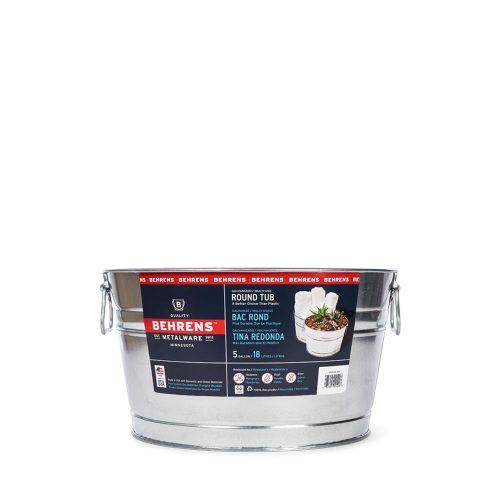 5 Gallon Round Galvanized Steel Tub
