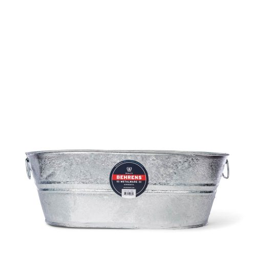 7 and half Gallon Oval Hot Dipped Steel Tub Main