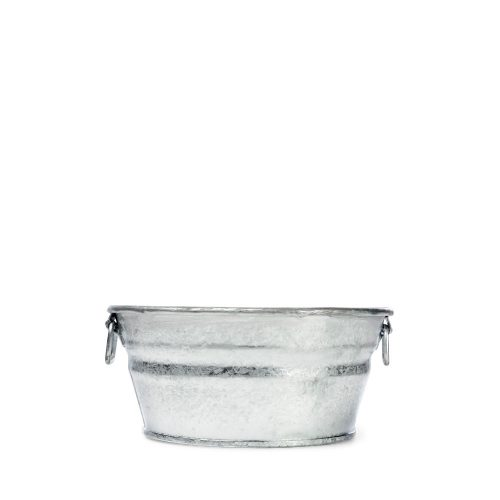 1 Quart Hot Dipped Steel Mini Round Low Flat Tub