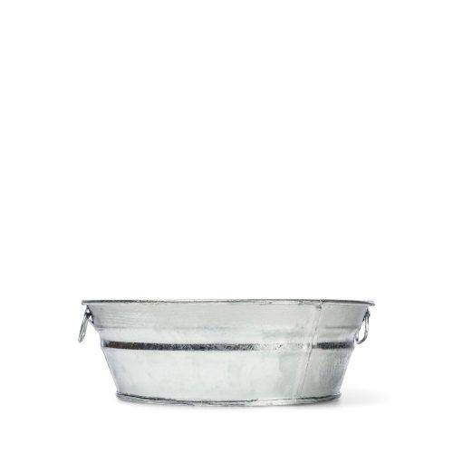 2 Quart Hot Dipped Steel Mini Round Low Flat Tub