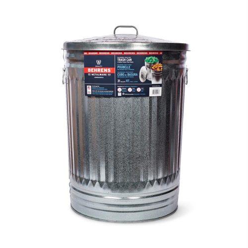 31 Gallon Galvanized Steel Trash Can