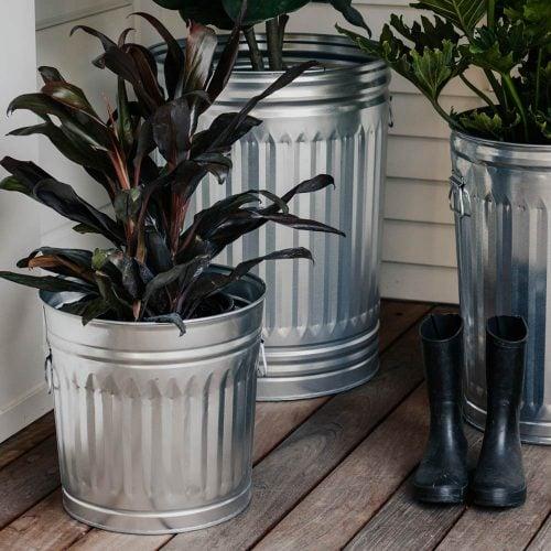 Galvanized Steel Trash Cans