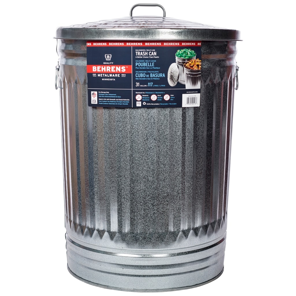 31 Gallon Trash / Utility Can | Behrens Manufacturing Company