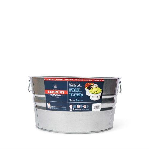 11 Gallon Galvanized Steel Round Tub