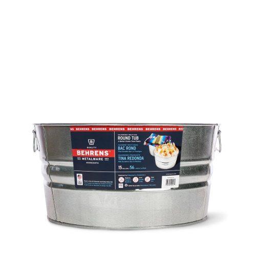 15 Gallon Galvanized Steel Round Tub