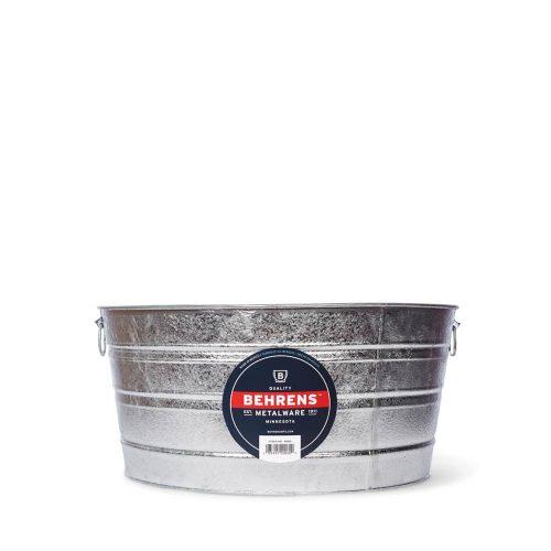17 Gallon Round Hot Dipped Steel Tub Main