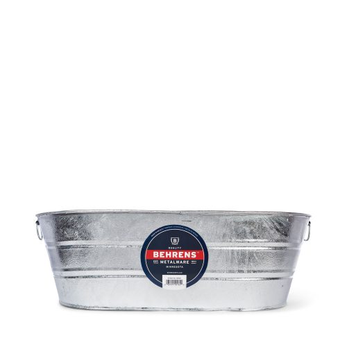 16 Gallon Oval Hot Dipped Steel Tub
