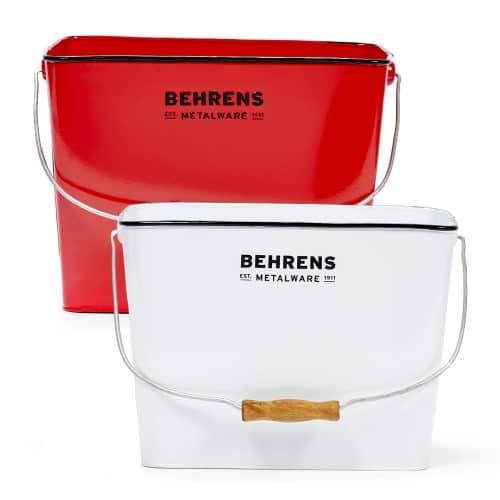 Red Rectangular bucket and a white rectangular bucket