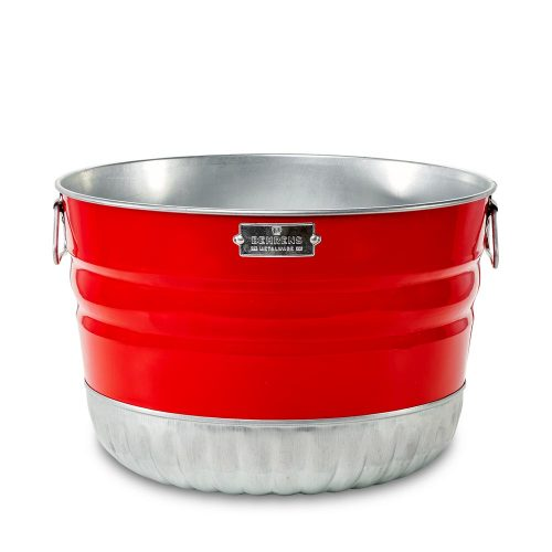 Signature Collection Red Painted Bushel Basket