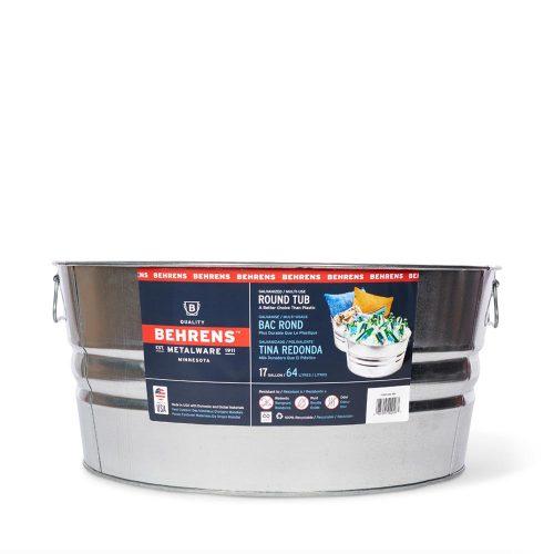 17 Gallon Galvanized Steel Round Tub