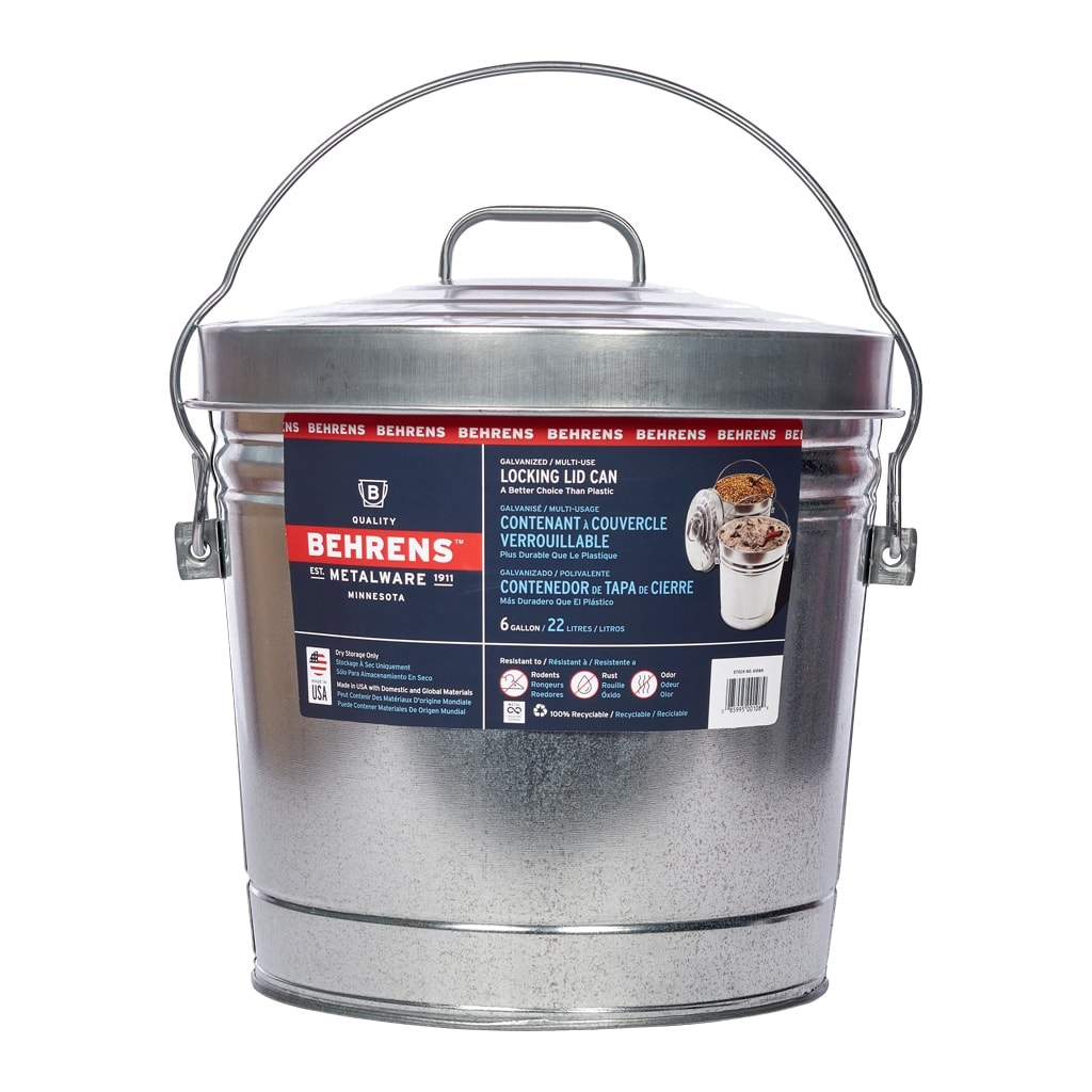 4 Gallon Locking Lid Can | Behrens Manufacturing Company