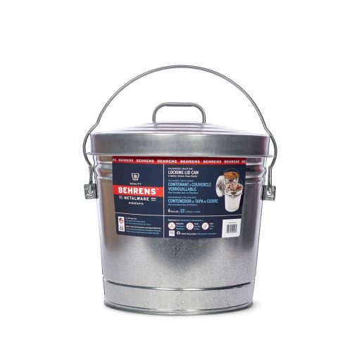 Metalware Classics 6 Gallon Galvanized Steel Can with Locking Lid