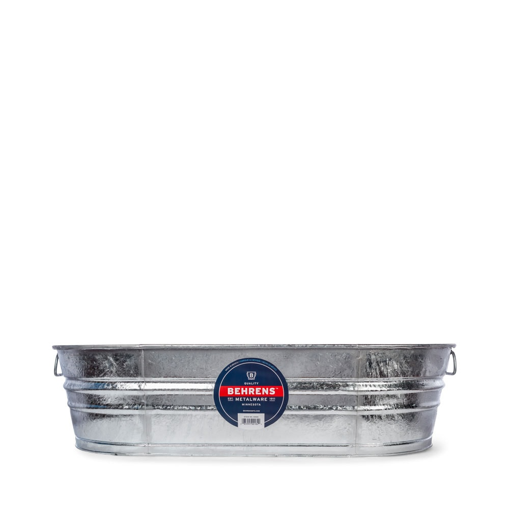 33 and half Gallon Oval Hot Dipped Steel Tub
