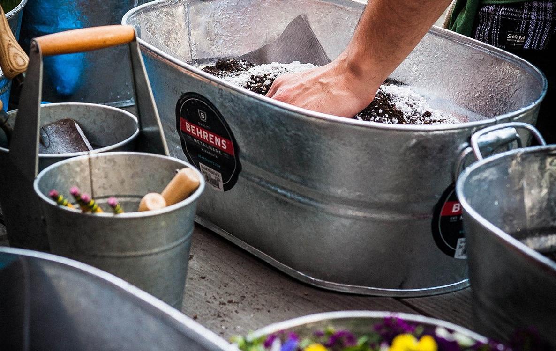Behrens Container Gardening - Galvanized Steel planting