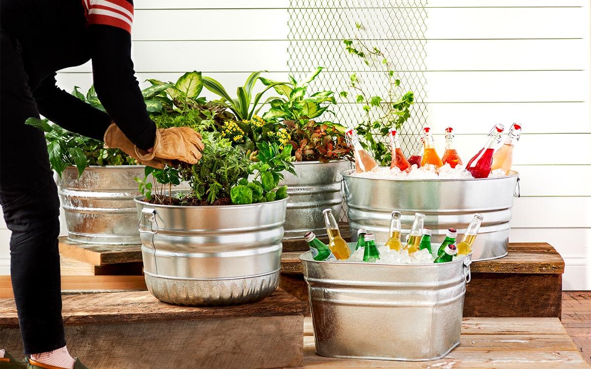 Behrens Galvanized Steel Cans - Tubs - Gardening - Drinks