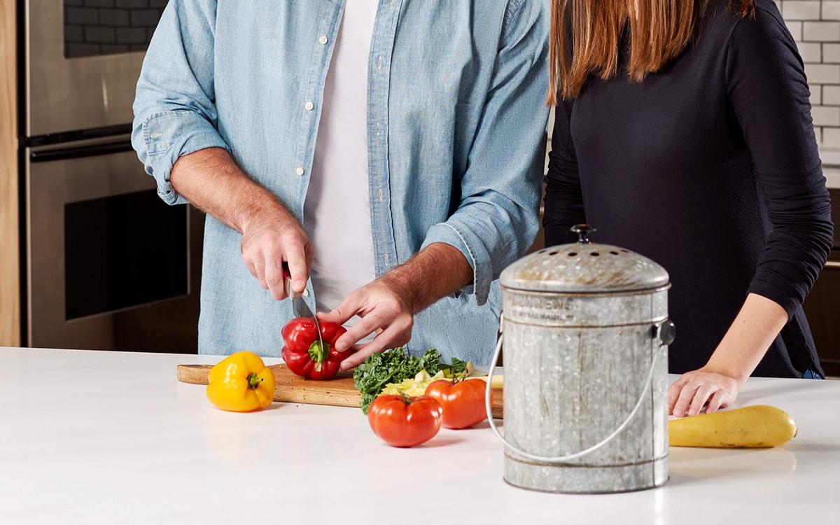 Behrens Galvanized Steel Compost Bin - Kitchen Counter