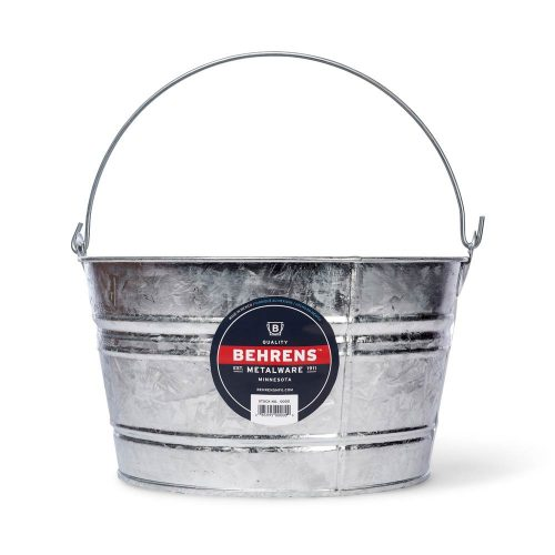 4 and quarter Gallon Hot Dipped Steel Pail Main
