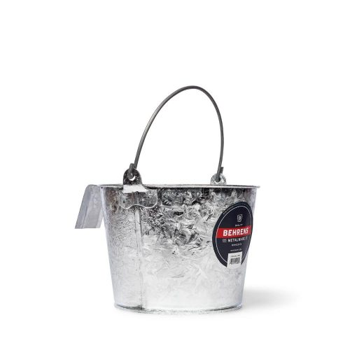 8 Quart Hot Dipped Steel Calf Pail with Bracket and Bail