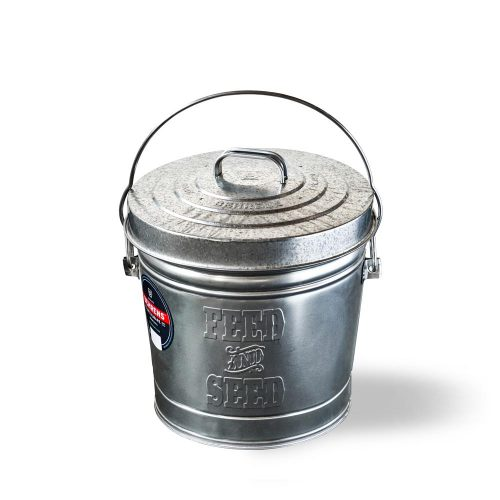 Metalware Classics Galvanized Steel Can with Locking Lid