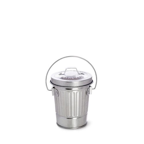 Mini Galvanized Steel Trash Cans with Lids