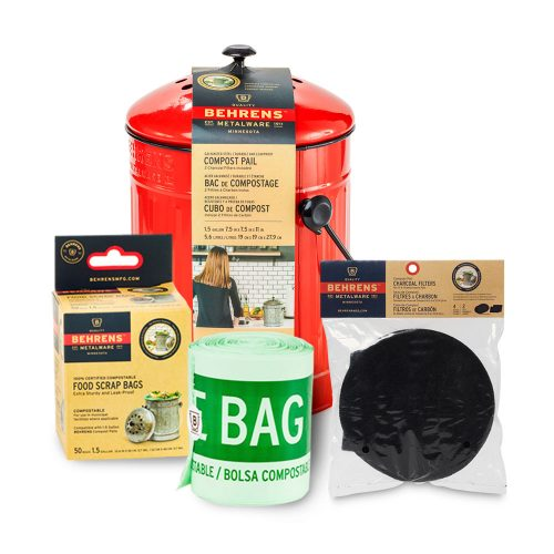 Indoor Composting Bundle Pack Small Red