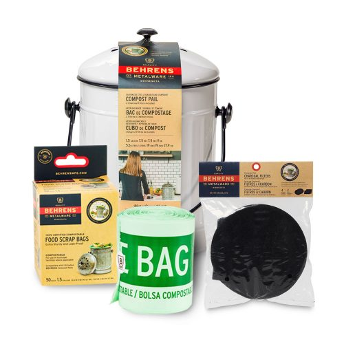Indoor Composting Bundle Pack Small White