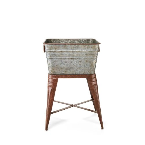 M19ST1 Rustic Square Tub with Stand 7 Gallon