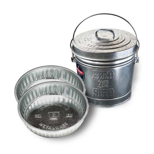 Galvanized Steel Pet Feeding Bundle Pack
