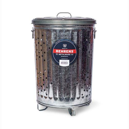 20 Gallon Galvanized Steel Outdoor Compost Trash Can