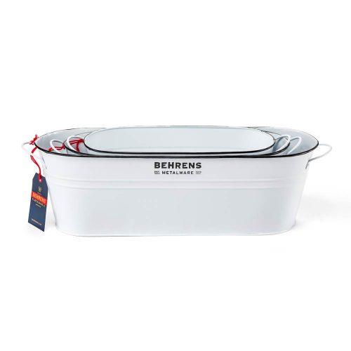 W19OST1 White Galvanized Tub